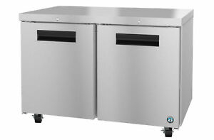 Hoshizaki Crmr48 01 Refrigerator Two Section Undercounter Stainless Doors Wit