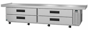 Hoshizaki Cres110 Refrigerator Two Section Equipment Stand Prep Table Stainle