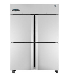 Hoshizaki Cr2s hs Refrigerator Two Section Upright Half Stainless Doors