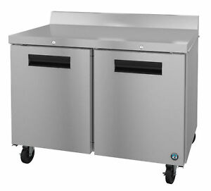 Hoshizaki Crmr48 w01 Refrigerator Two Section Worktop Stainless Doors With Lo