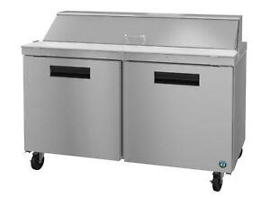 Hoshizaki Crmr60 16 Refrigerator Two Section Sandwich Prep Table Stainless Do