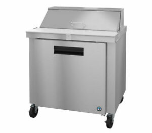 Hoshizaki Crmr36 10 Refrigerator Single Section Sandwich Prep Table Stainless
