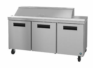 Hoshizaki Crmr72 16 Refrigerator Three Section Sandwich Prep Table Stainless