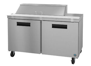 Hoshizaki Crmr60 12 Refrigerator Two Section Sandwich Prep Table Stainless Do
