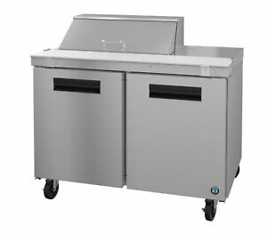 Hoshizaki Crmr48 8 Refrigerator Two Section Sandwich Prep Table Stainless Doo