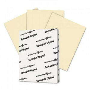 Digital Index Color Card Stock 90 Lbs 8 1 2 X 11 Ivory 250 Sheets pack 2 Packs