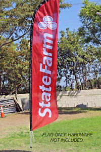 State Farm Windless Swooper Flag Only Free Shipping