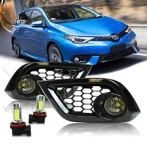 For 16 17 18 Scion Toyota Im Fog Lights W wiring Kit Cob Led Bulbs Clear
