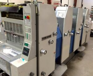 2004 Ryobi 524he Printing Press With Console And Autoplate 14x20 Size