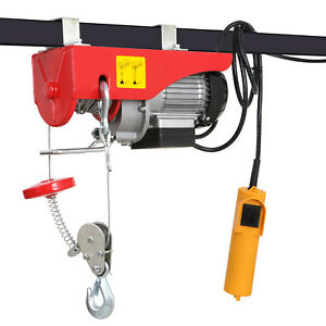New Mini Electric Wire Cable Hoist Winch Crane Lift Overhead Remote Control Us