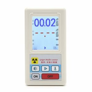 Geiger Counter Nuclear Radiation Detector Personal Dosimeter Marble Tester Al