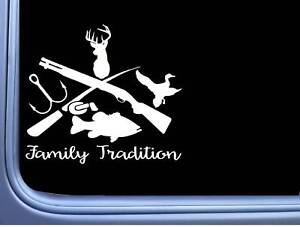 Family Tradition Sticker M313 6 Inch Duck Bass Deer Hunting Decal