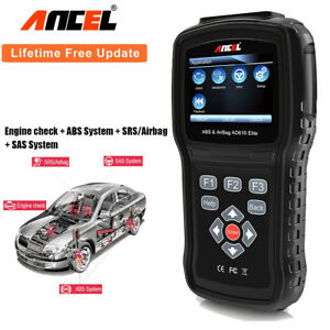 Ancel Ad610elite Automotive Diagnostic Scanner Obd2 Engine Abs Airbag Reset Tool