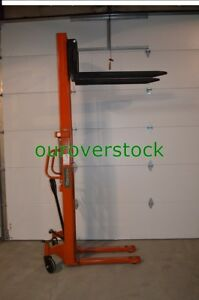 Fork Over Manual Stacker 3 300 Lb 63 Lift Height 22 X 45