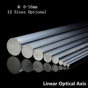 2pcs Od 6 16mm 300 1000mm Cylinder Optical Axis Linear Rail Linear Shaft Rod
