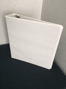 Case Of 12 Just Basics 2 Inch Round Ring White View Binders Nib Free Shipping