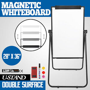 Rolling Magnetic Dry Erase Whiteboard Double Sided 36 24