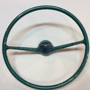 1955 1956 Chevy Steering Wheel And Horn Button