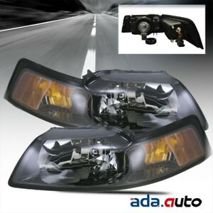 2001 2004 Ford Mustang Driver Left Right Passenger Side Headlights Lamps Pair