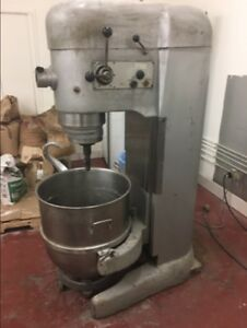 Hobart 140 Qt Dough Mixer Bakery Equipment W stainless Steel Bowl hook