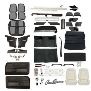 Pui Black white Houndstooth Upholstery Kit 1969 Camaro Coupe W Ac