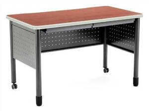 Steel Frame Table Desk W Pencil Drawers Modesty Panels id 377555