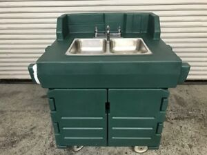 2 Compartment Nsf Portable Hot Mobile Hand Wash Sink Cart Cambro Ksc402 8374