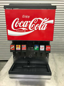 6 Flavor Head Soda Fountain Dispenser W Ice Storage Bin Counter Top 8376 Coke