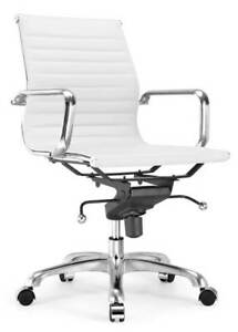 Modern Classic Aluminum Office Chair In White Finish id 3712047