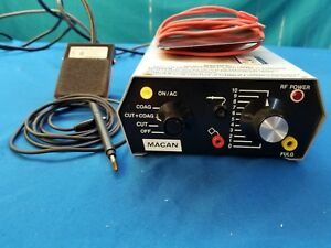 Macan Mc 6 Electrosurgical Unit W diodes And Foot Pedal Very Nice
