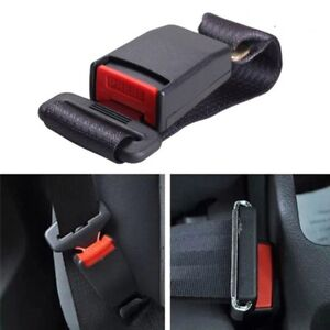 Black Universal Auto Car Safety Seat Belt Buckle Extension Alarm Extender Us