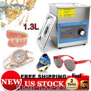 1 3l Industry Digital Ultrasonic Cleaner Cleaning Machine With Timer Usa