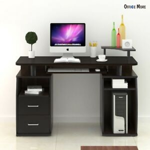Modern Computer Desk Pc Table Monitor Amp Printer Shelf Office Home Furniture