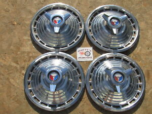 1963 Ford Galaxie 500 Xl 14 spinner Wheel Covers Hubcaps Set Of 4