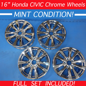 Set 2012 2013 2014 Honda Civic Oem Factory 42700tr0a81 Chrome Dipped Wheels Rims