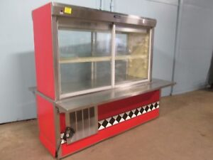 delfield Commercial H d nsf Lighted Refrigerated Pie pastry Display Cooler