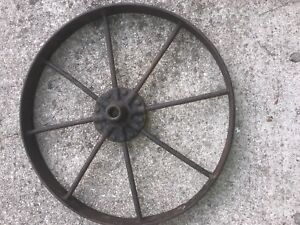 Vintage Cast Iron Wagon Wheel