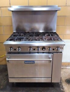 Imperial Range Ir 6 36 Restaurant Range With 6 Open Gas Burners
