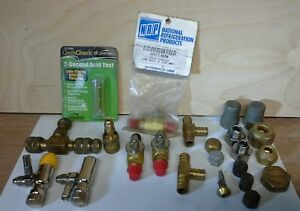 Refrig ac hvac C d No Loss Core Removal Tools bulk Tank ball Valves fittings