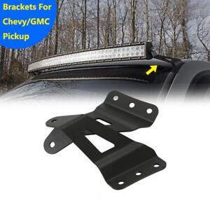 50 52 Mount Bracket For Curved Led Light Bar 07 14 Chevy Silverado Gmc Sierra