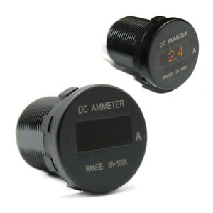 Car Boat Marine Mini Digital Oled Dc Ammeter Monitor Current Amp Meter 12v 24v