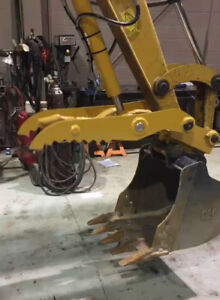 Direct Link Hydraulic Thumb For Cat 304ccr demo