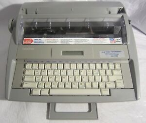 Brother Sx 4000 Portable Electric Typewriter Working Needs Correction Tape