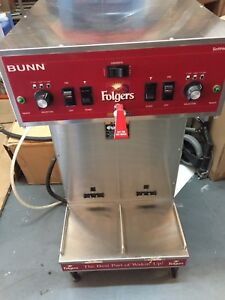 Bunn Dual Sh Softheat Thermofresh Automatic Commercial Coffee Brewer maker Used