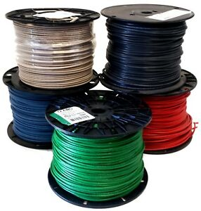 500 Ft 12 Awg Solid Copper Thhn Thwn Wire Black Blue Red Green White Usa Made