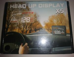 Head Up Display Car X5 Large Screen Hud Speed Warning System Obd2 Interface