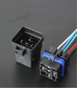5pcs Waterproof Integrated Automobile Relay 12v Dc 40a 5pin Auto Relay socket