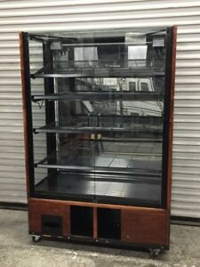 48 Bakery Display Case Dry Bread Donut Bagel Pastry Food Storage Cabinet 8418