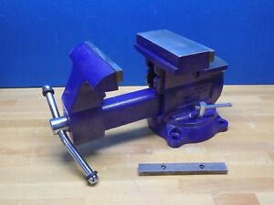Wilton Reversible Mechanics Vise W Swivel Base 8 Jaw Width 9 1 2 Opening