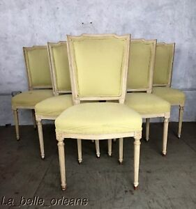 Set Of Six Louis Xvi Style Dining Chairs Wide Seats L K
